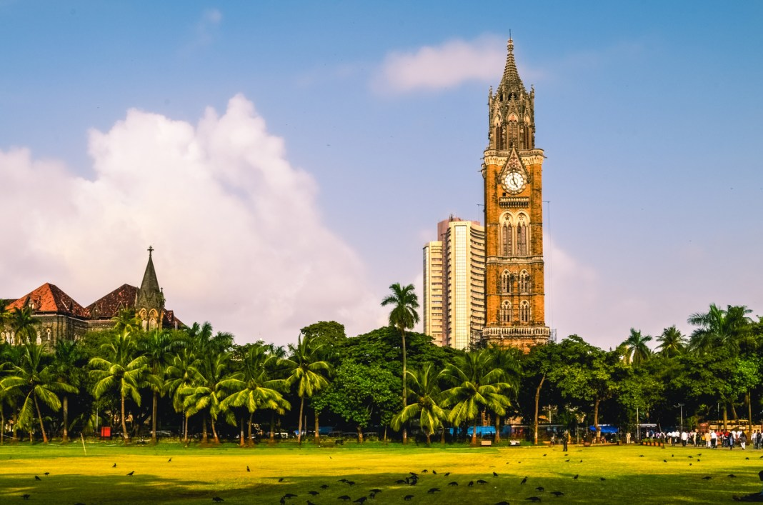 unesco world heritage sites in Mumbai, The Rajabai Clock Tower is a clock tower in South Mumbai India. It is near the Oval Maidan and Bombay High Court