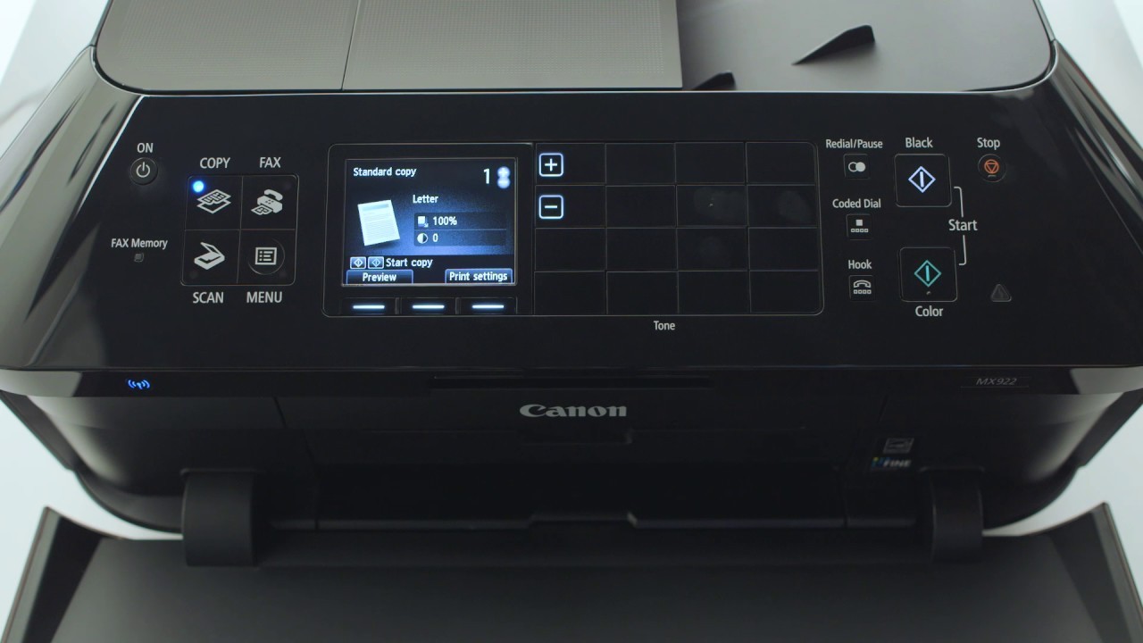 Canon Pixma Mx922 Wireless All In One Printer Copyfaxes