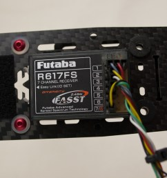although pwm receivers like the futaba r617fs use up to 8 wires to interface with the cc3d the connections are still rather simple  [ 1280 x 720 Pixel ]
