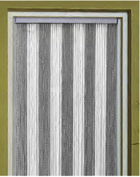 door curtain korda 60 x 190cm white grey