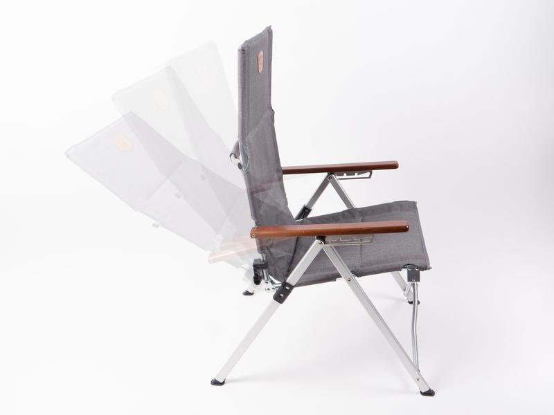 chaise pliante holiday travel rembourra c e gris china c accoudoir en bois