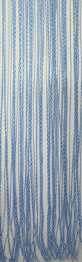 door curtain string 100 pvc 60x190cm white blue