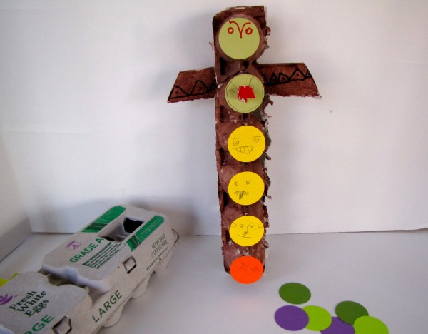 Egg Carton Totem Pole