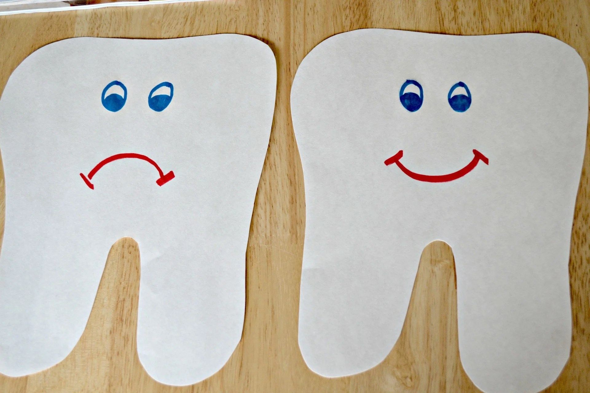 Happy Tooth Sad Tooth Collage