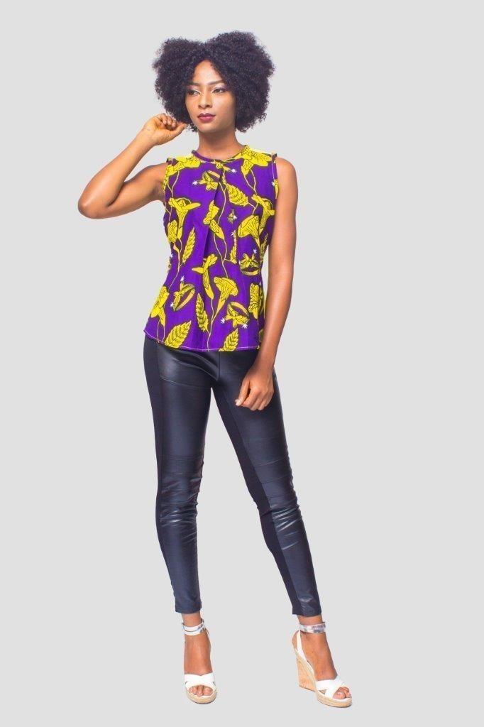 Top imprim africain haut Ankara haut Kitenge vtements pour femmes  Afrikrea