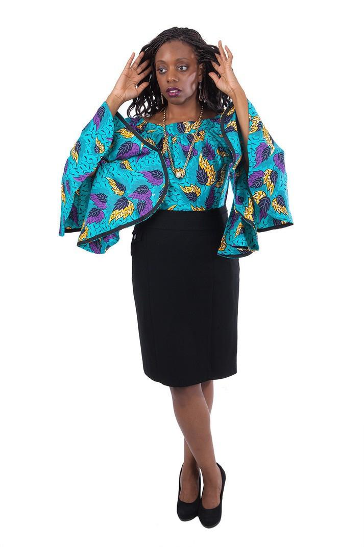 Tunique En Wax Pagne Africain Tuniques Femme Multicolore Avec Une Touche De Wax Wax Pour Elle Coton Les Beaux Jours Mariage Et Cérémonie