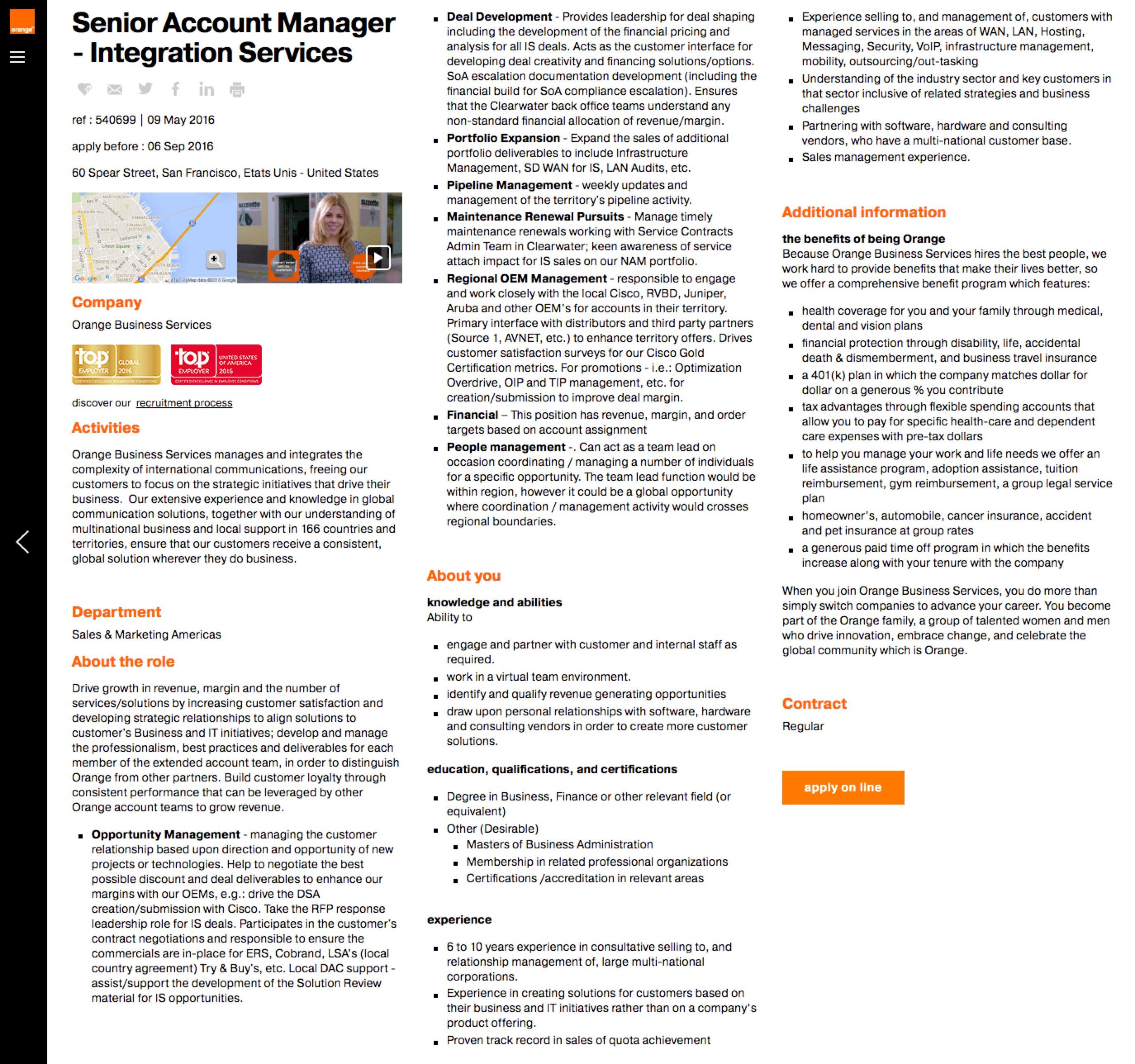 Best Job Descriptions Sample Orange Ongig Blog