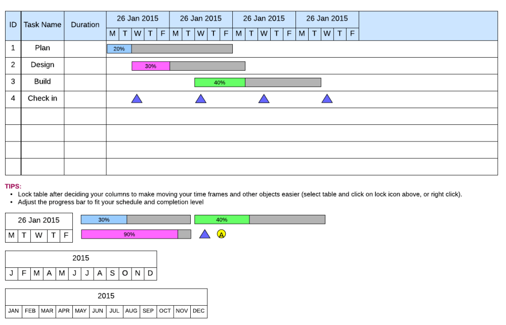medium resolution of traditional gantt chart template