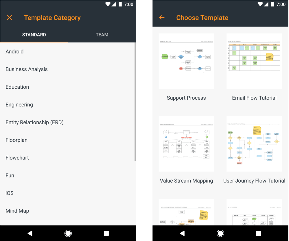 medium resolution of android app template selection
