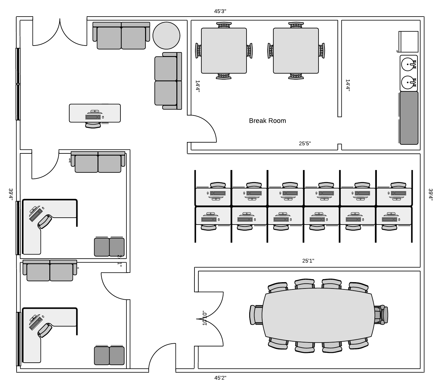 hight resolution of office floor plan