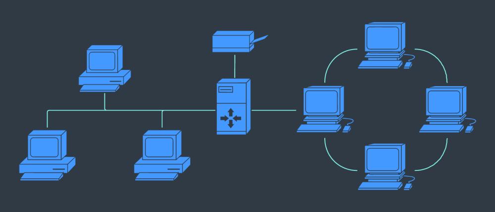 medium resolution of small busines network diagram icon