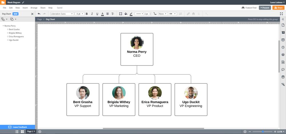 medium resolution of new lucidchart org chart example