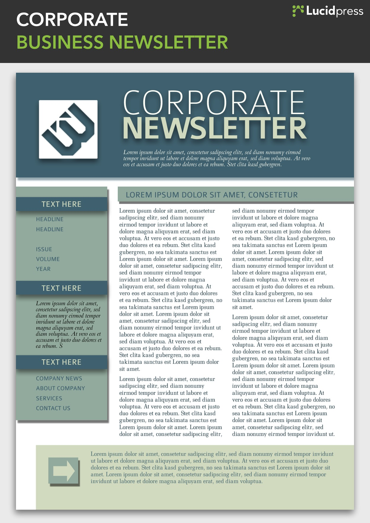 Corporate newsletter template corporate newsletter templates 13 best newsletter design ideas wajeb Choice Image