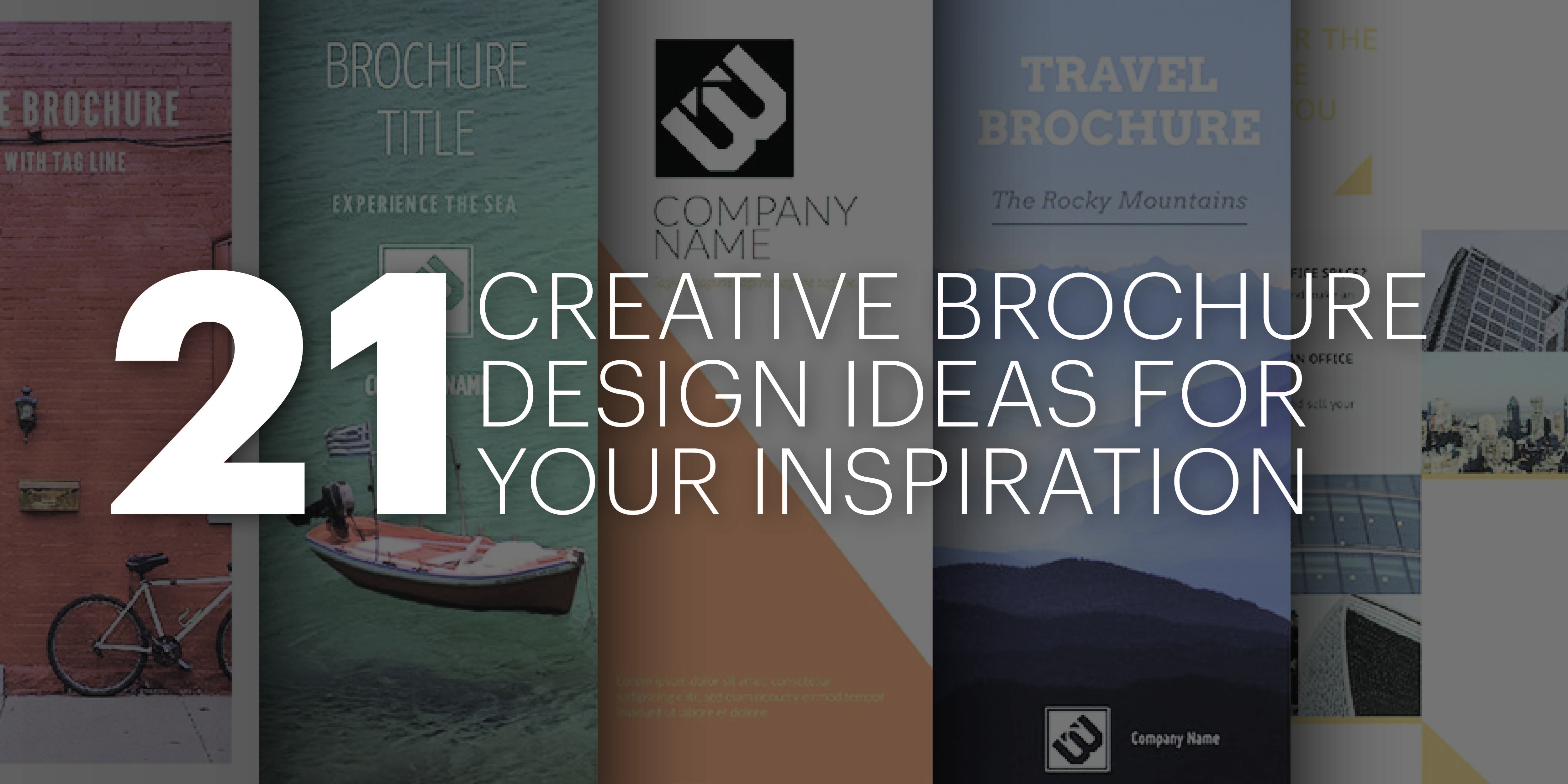 21 creative brochure cover