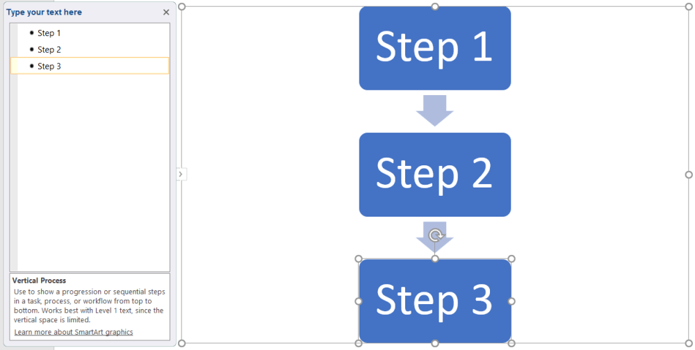 medium resolution of how to make a flowchart in powerpoint add text to smartart shapes