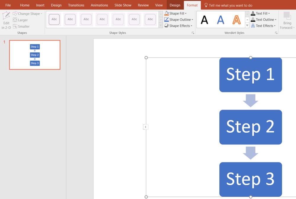 medium resolution of how to make a flowchart in powerpoint format smartart