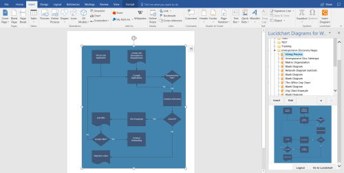 small resolution of select your flowchart from your documents to insert into your word document you can build intricate flowcharts