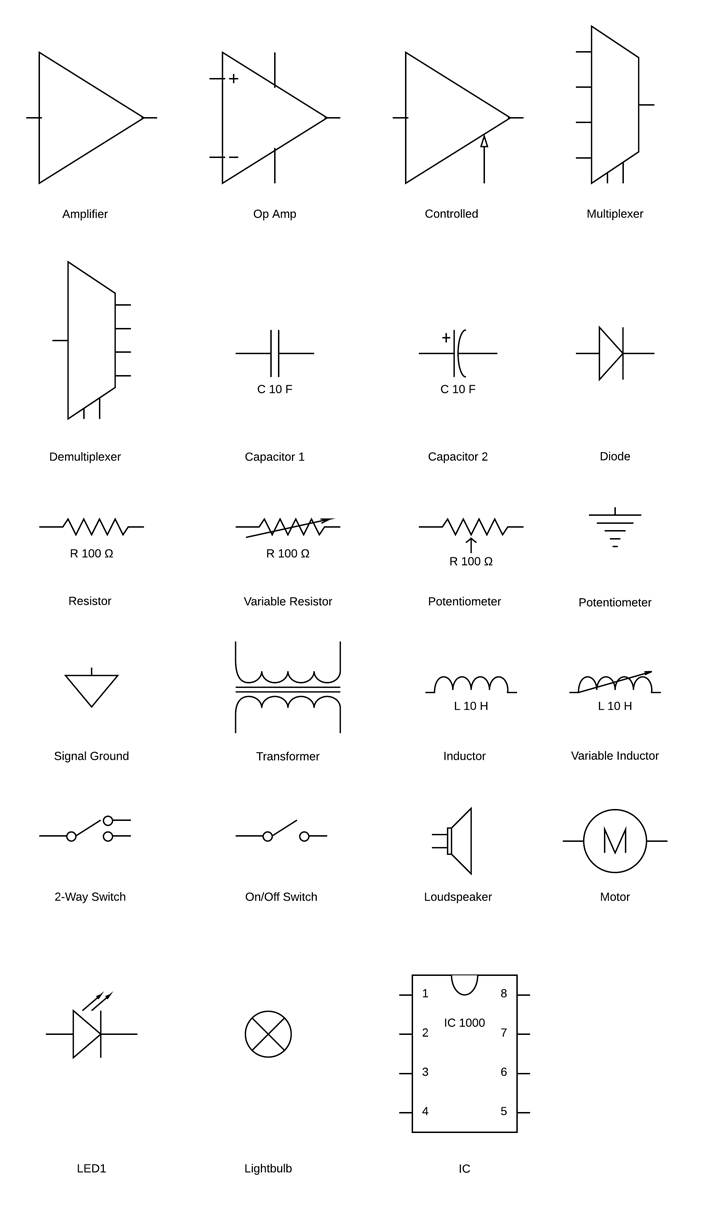 medium resolution of electrical circuit diagram symbols