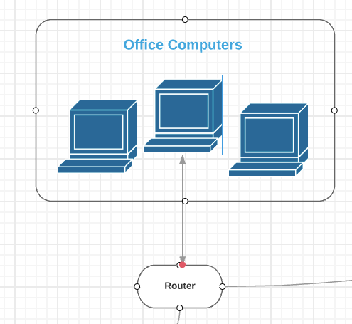 office lan network diagram kohler mand tune up kit how to draw a lucidchart then click and hold one of the orange circles drag line appropriate symbol continue all connections on