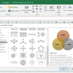 How To Make A Venn Diagram Electrical Plug Wiring In Excel Lucidchart Choose Smartart Graphic Diagramming Is Quick And Easy