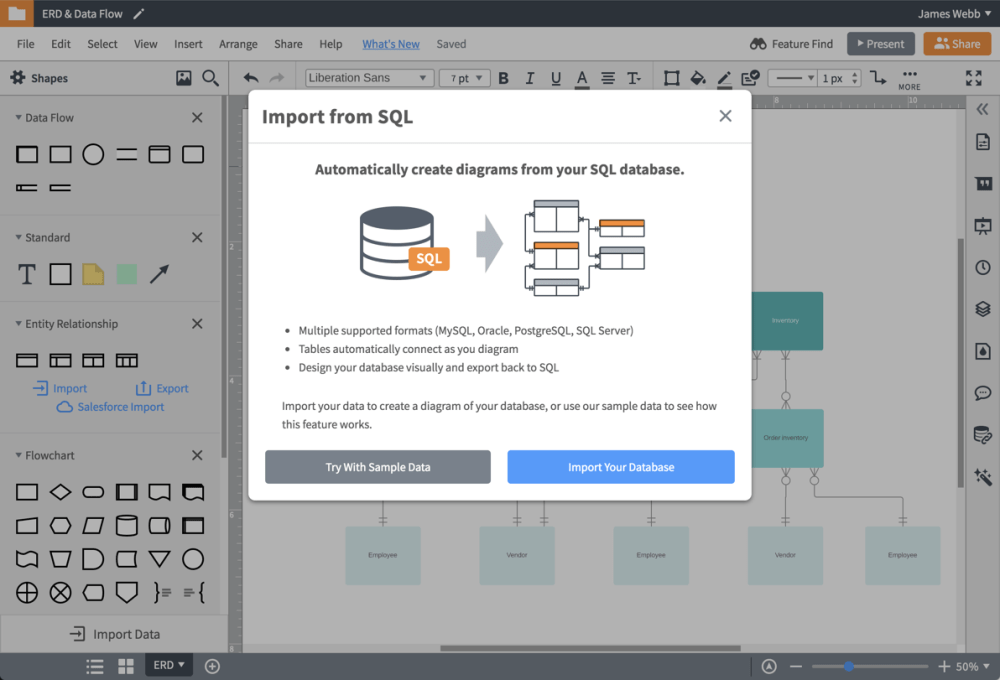 medium resolution of import your database structure