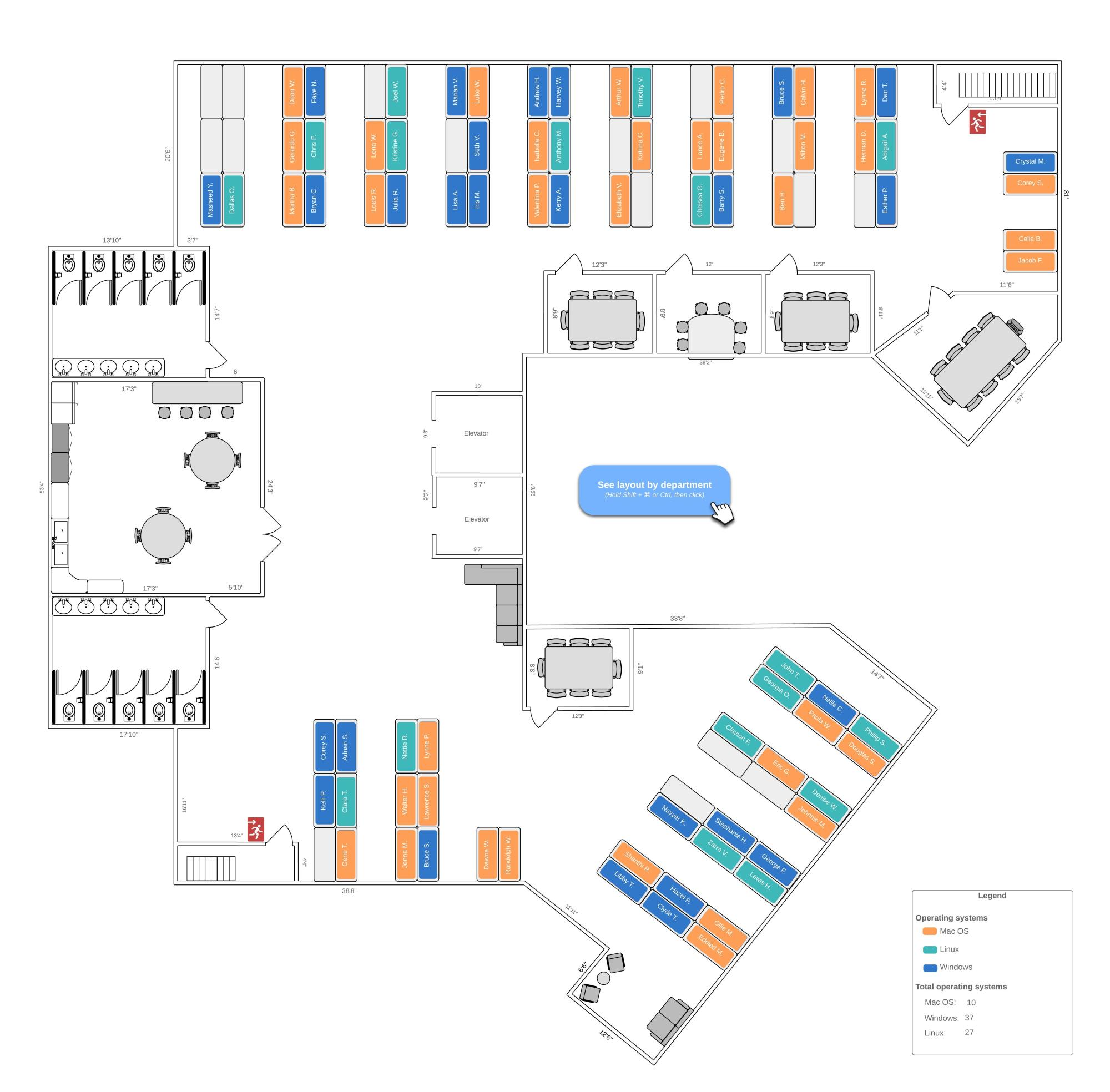 hight resolution of detailed office layout example