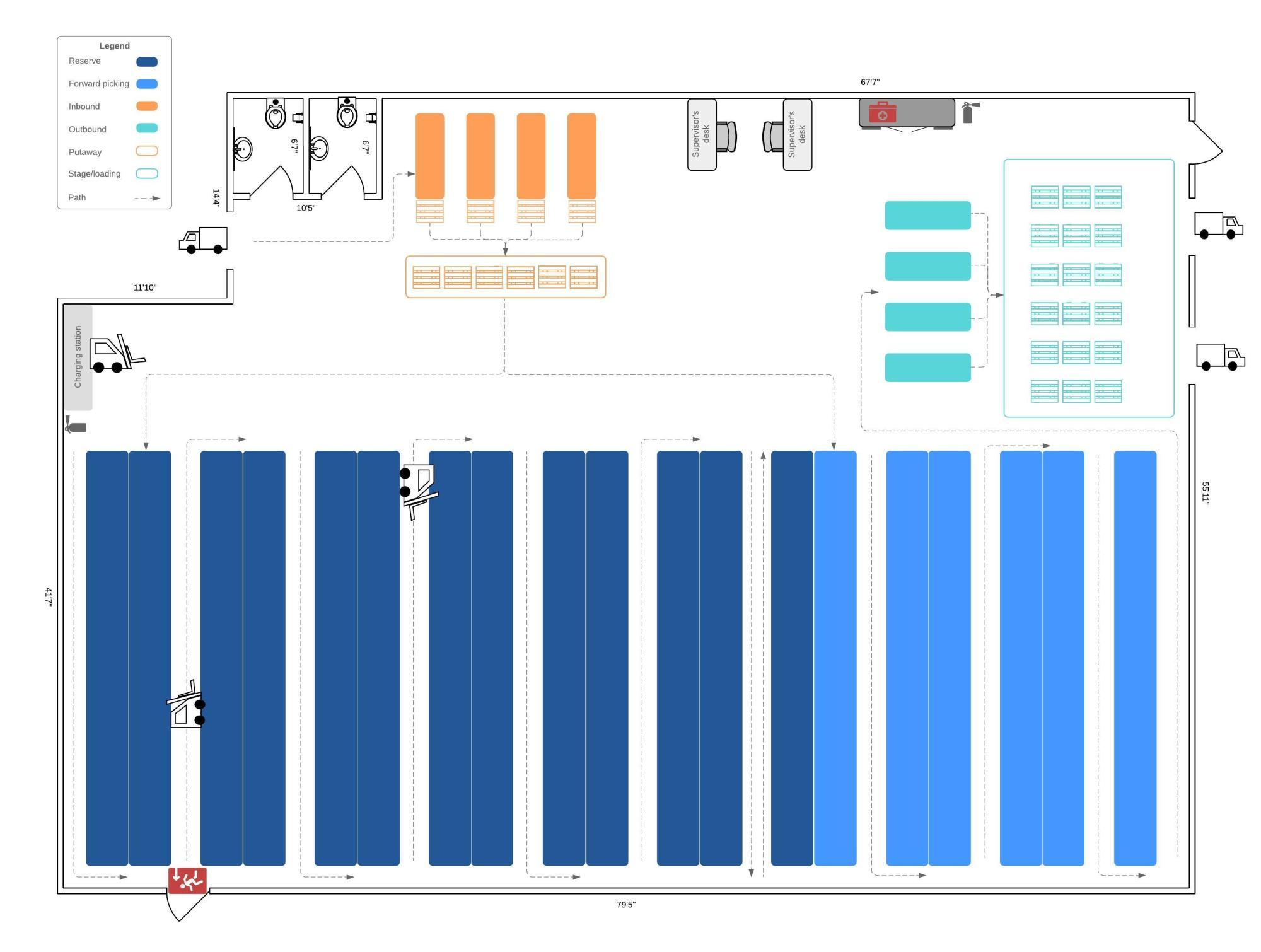 hight resolution of warehouse floorplan example