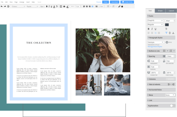 free layout and design