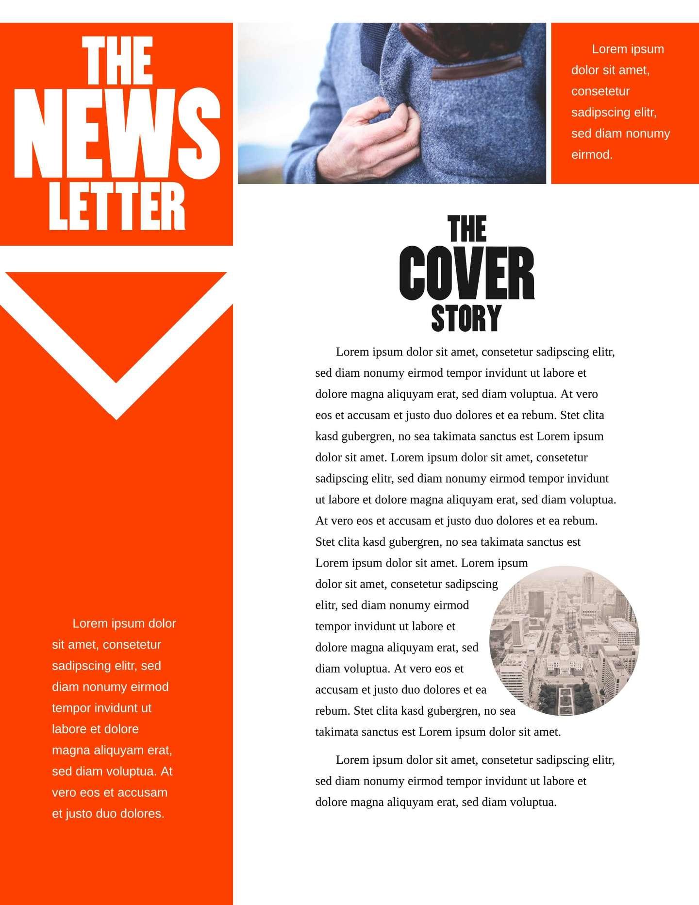 Black Widow Company Newsletter Template