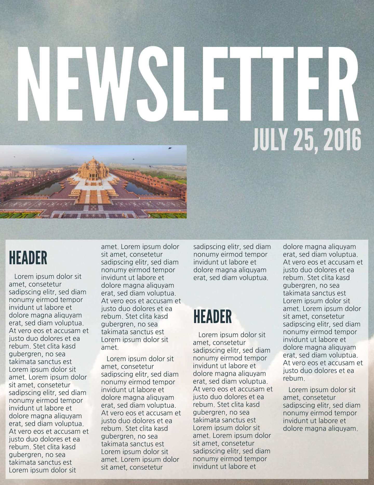 Bold Business Newsletter Template