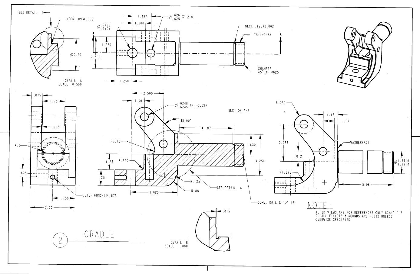 sample 6 technical drawing die stacking