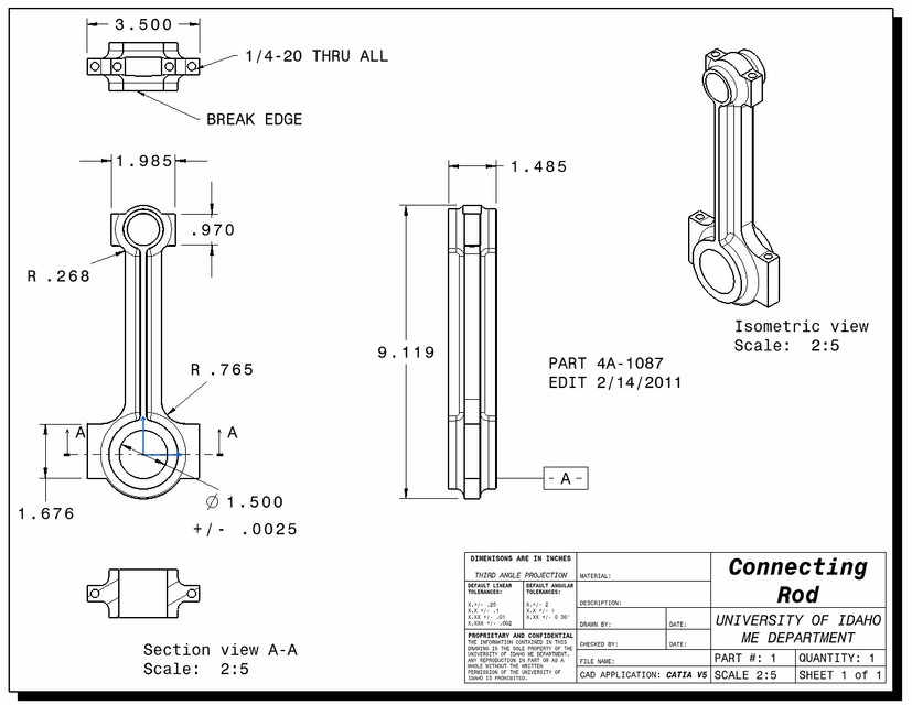 Connecting Rod Drawing