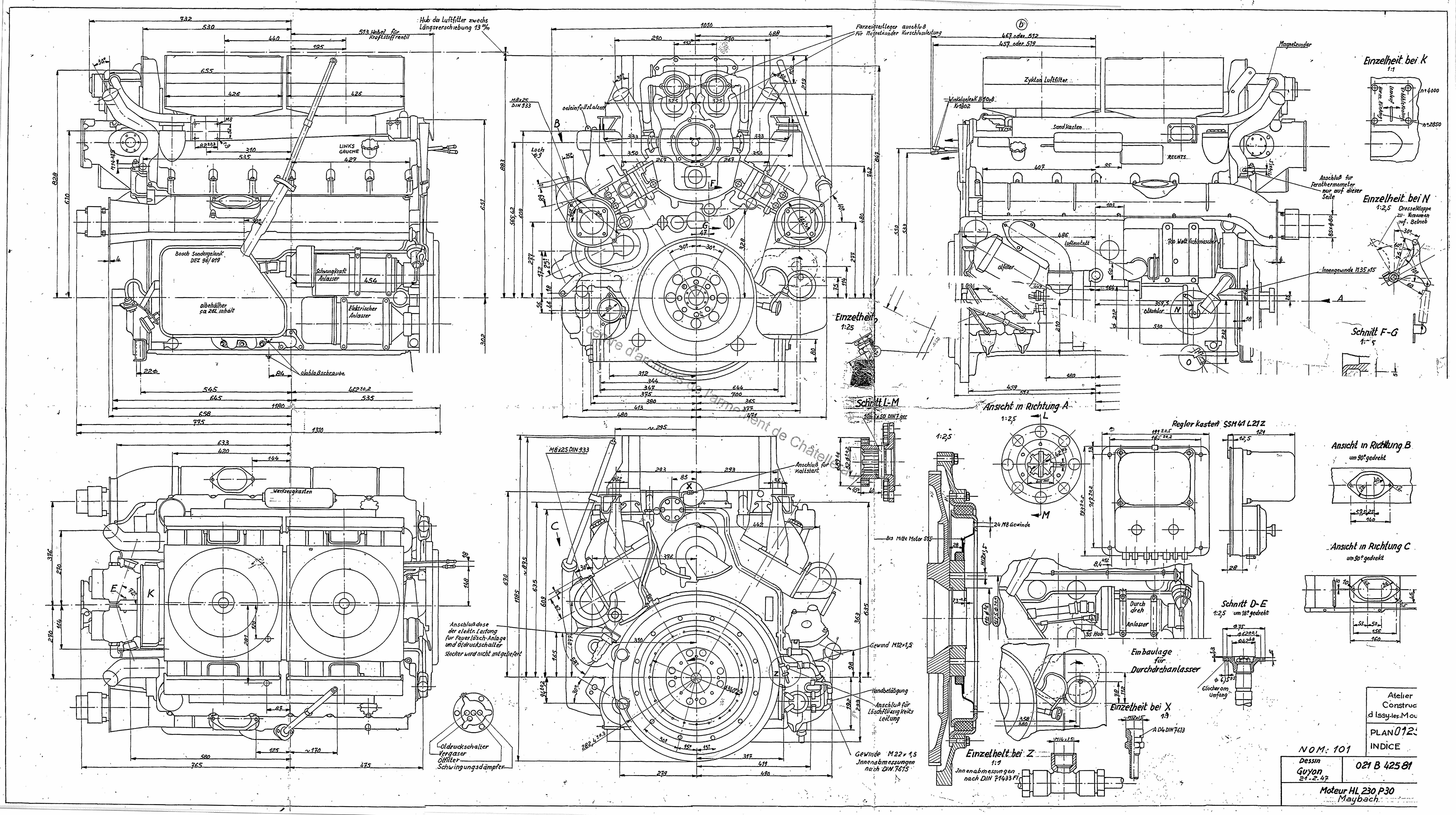 any idea how to model this engine from it s blueprint  [ 8165 x 4570 Pixel ]