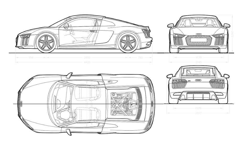 if you can not defeat them.... Audi R8 MY2016 blueprints