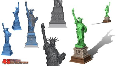 Statue of Liberty - Miniature Novelty Statue | 3D CAD Model Library |  GrabCAD
