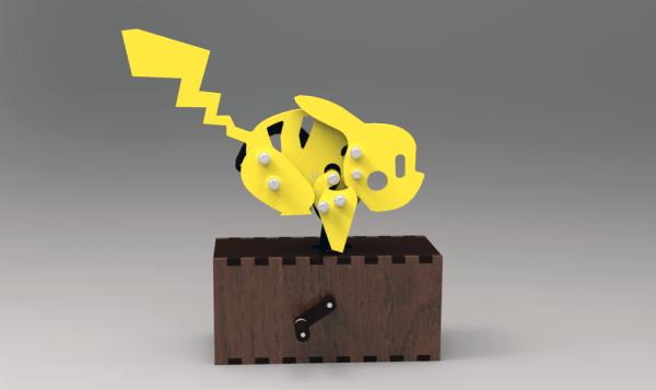 Automaton :: Mechanical Pikachu   3D CAD Model Library   GrabCAD