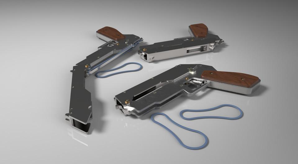 1911 Rubber Band Gun Plans