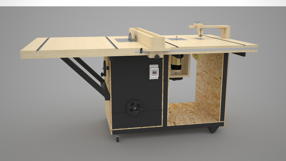Combination Miter Saw And Router Table