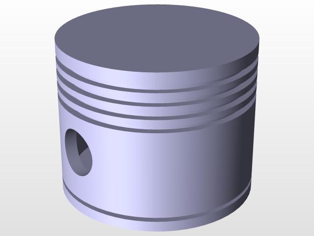 Simple Piston | 3D CAD Model Library | GrabCAD