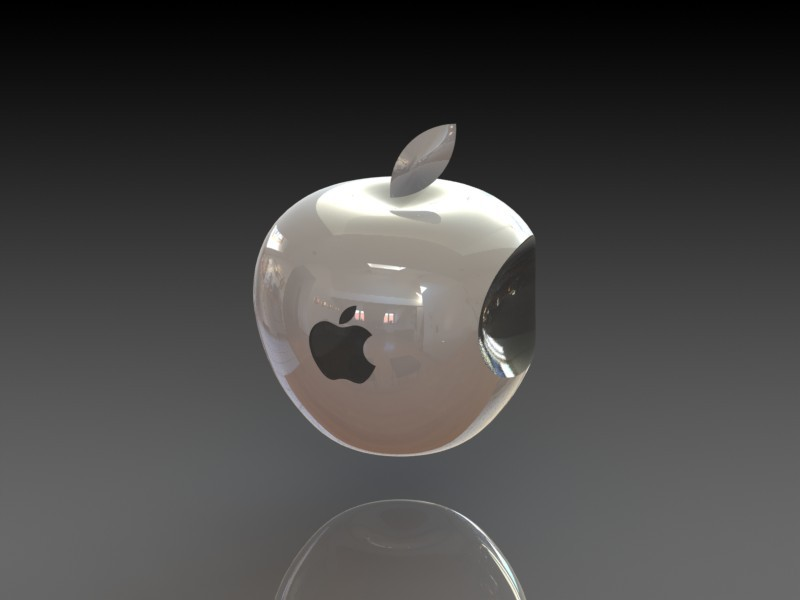3d apple logo 3d