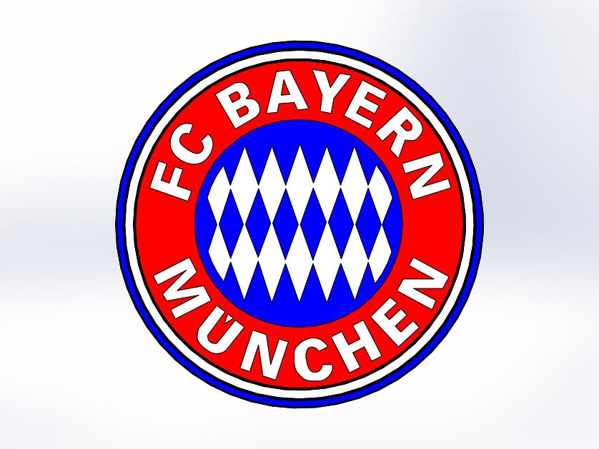 bayern munchen logo 3d