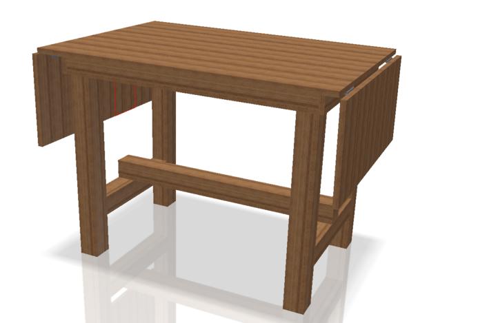 Side Flap Folding Kitchen Cutting Table  Autodesk