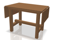Side Flap Folding Kitchen Cutting Table