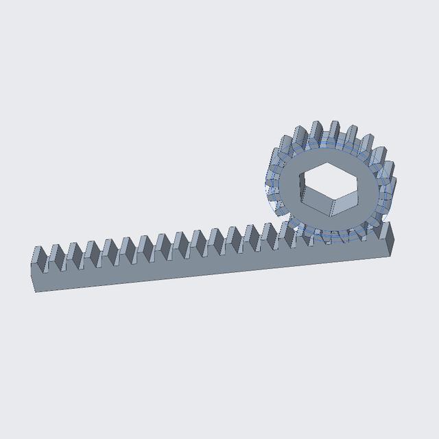 parametric rack and pinion generator