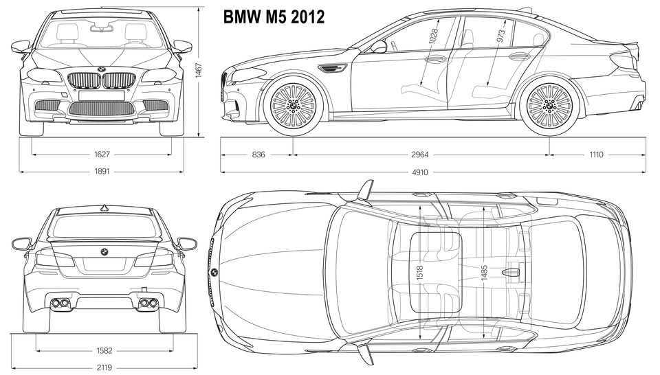 Blueprints bmw m5 2012, audi s6 2012, farrai ff 2011 and