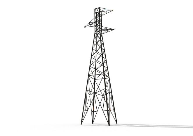 US single circuit transmission line tower 1920