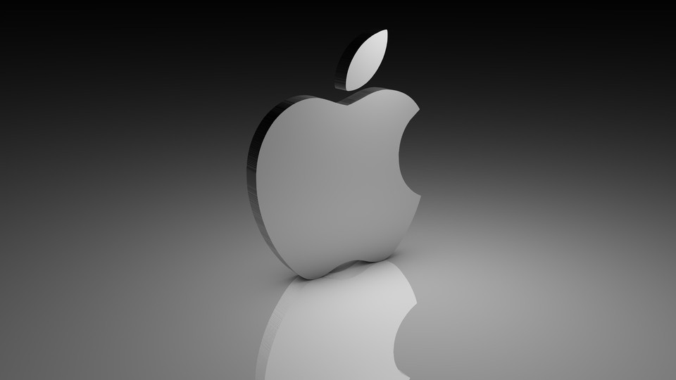 apple 3d logo 3d