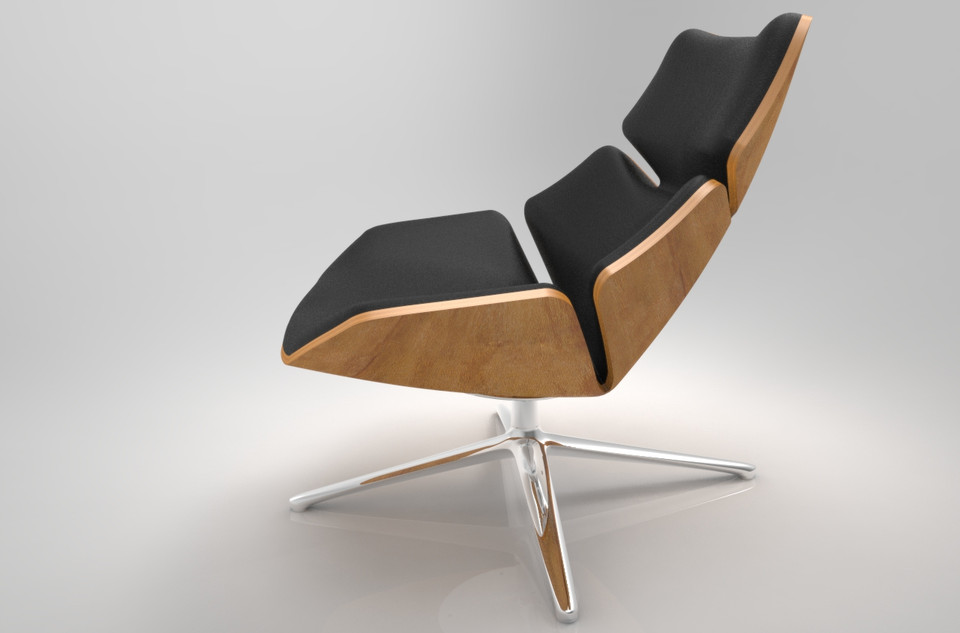 jehs laub lounge chair western potty shrimp from 3d cad model library load in viewer uploaded by anonymous