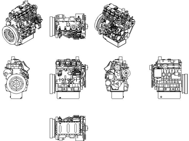 AutoCAD Engine Footprints