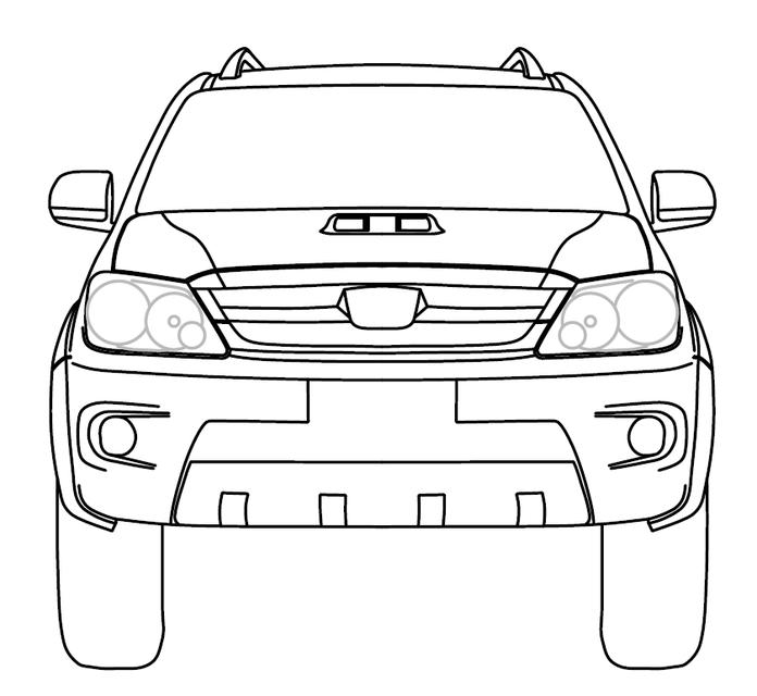 Gambar Toyota Fortuner Autocad 3d Cad Model Grabcad Gambar